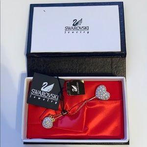 Swarovski heart pin